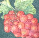 Pittura a olio dell'uva artistica Fotografie Stock Libere da Diritti