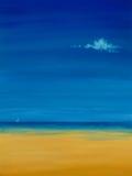 Pittura a olio della spiaggia Fotografia Stock