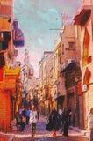 Pittura a olio di Origianl Fotografia Stock