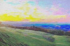 Pittura a olio originale Fotografia Stock