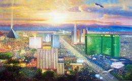 Pittura a olio originale Las Vegas Fotografie Stock Libere da Diritti