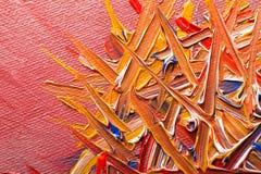 Pittura a olio su tela immagini stock libere da diritti