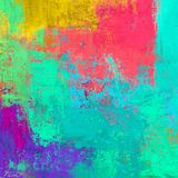 Pittura a olio su tela fatta a mano Struttura di astrattismo Struttura variopinta materiale illustrativo moderno Colpi di pittura Fotografia Stock