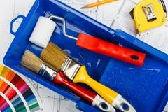 Pittura per uso interno Fotografie Stock