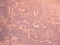 Pittura preistorica della roccia Immagini Stock