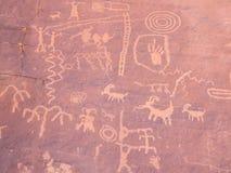 Pittura preistorica della roccia Fotografia Stock Libera da Diritti
