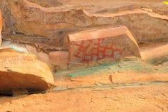 Pittura preistorica famosa della roccia Immagini Stock Libere da Diritti