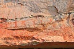 Pittura preistorica famosa della roccia Fotografia Stock Libera da Diritti