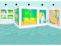 Pittura realistica nel museo del fondo di arti royalty illustrazione gratis