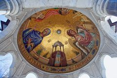 Pittura religiosa dentro un ciborio della cattedrale di epifania Gorl fotografia stock libera da diritti