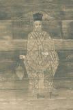 Pittura religiosa esteriore dell'annata immagini stock