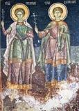 Pittura religiosa ortodossa Immagine Stock