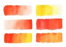 Pittura rossa dell'acquerello di vettore astratto immagine stock