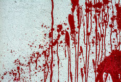 Pittura rossa sulla parete bianca Fotografia Stock Libera da Diritti