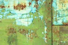 Pittura scheggiata su struttura della superficie del ferro Immagine Stock Libera da Diritti