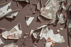 Pittura scheggiata su un vecchio fondo di struttura della parete del gesso Fotografie Stock Libere da Diritti
