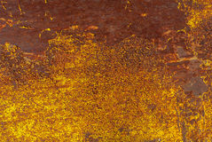 Pittura scheggiata sul fondo della superficie del ferro Immagine Stock Libera da Diritti