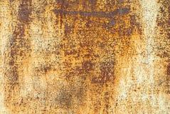 Pittura scheggiata sul fondo della superficie del ferro Fotografie Stock