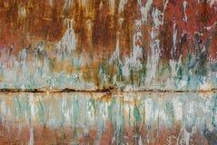 Pittura scheggiata sul fondo di struttura della superficie del ferro Immagine Stock
