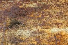 Pittura scheggiata sul fondo di struttura della superficie del ferro Fotografie Stock