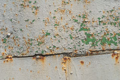 Pittura scheggiata sul fondo di struttura della superficie del ferro Immagini Stock Libere da Diritti