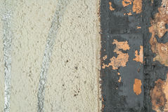 Pittura scheggiata sul vecchio fondo di struttura del muro di cemento Immagini Stock Libere da Diritti