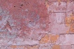 Pittura scheggiata sul vecchio muro di cemento, fondo di struttura Fotografie Stock