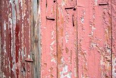 Pittura scheggiata sulla porta dei bordi anziani Fotografia Stock Libera da Diritti