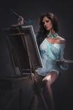 Pittura della donna Immagini Stock