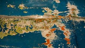 Pittura strappata su ferro come estratto, fondo di progettazione fotografia stock