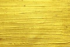 Pittura strutturata acrilica dell'oro fotografia stock libera da diritti
