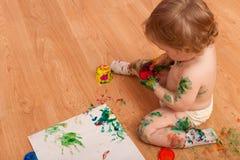 Pittura sudicia Fotografie Stock Libere da Diritti
