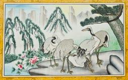 Pittura sulla chiesa cinese Fotografie Stock