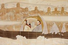 Pittura sulla chiesa cinese immagini stock