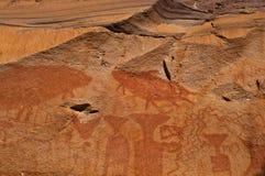 Pittura sulla roccia Fotografia Stock