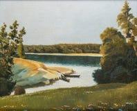 Pittura sulla tela di canapa Fotografia Stock