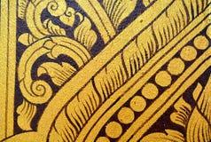 Pittura tailandese antica sulla parete in tempio di Buddha immagini stock libere da diritti