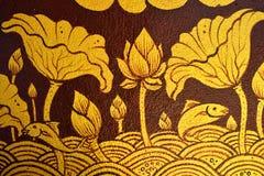 Pittura tailandese antica sulla parete in tempio di Buddha fotografia stock libera da diritti