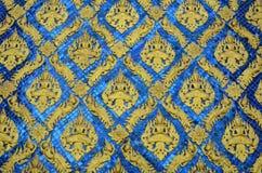 Pittura tailandese dell'oro di stile Fotografia Stock Libera da Diritti
