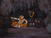 Pittura tailandese di arte Fotografia Stock Libera da Diritti