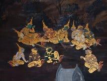 Pittura tailandese di arte Fotografie Stock