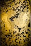 Pittura tailandese di arte di stile Fotografia Stock