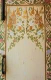 Pittura tailandese sulla finestra fotografie stock