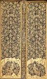 Pittura tailandese tradizionale antica di stile sul Doo Immagine Stock