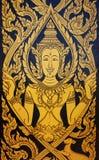 Pittura tailandese tradizionale di arte di stile Fotografie Stock Libere da Diritti