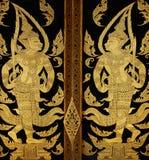 Pittura tailandese tradizionale di arte di stile Fotografia Stock Libera da Diritti