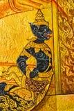 Pittura tailandese tradizionale di arte di stile dell'annata. Fotografie Stock