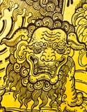 Pittura tailandese tradizionale di arte di stile dell'annata. Fotografia Stock