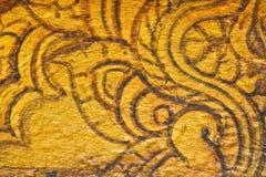 Pittura tailandese tradizionale di arte di stile sul tempiale Fotografie Stock Libere da Diritti