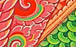 Pittura tailandese tradizionale di arte di stile sul tempiale Immagine Stock Libera da Diritti